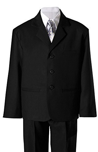 Black Dress Suit (Boys Black Husky Suit - Size 14 Husky)
