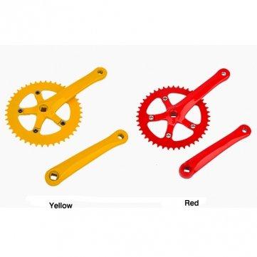 Bheema Fixed Gear Bike INBIKE 44T hochfestem Stahl Kurbelgarnitur - Yellow