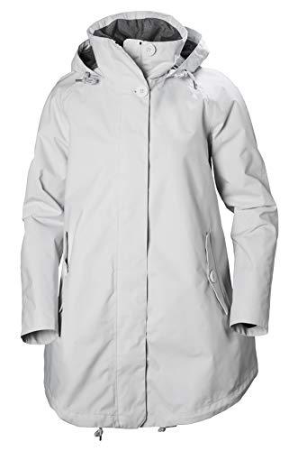 - Helly Hansen Women's Sendai Waterproof Breathable Hooded Rain Coat, Nimbus Cloud, Medium