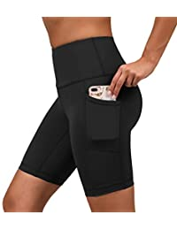 Yogalicious High Waist Biker Shorts with Side Pockets