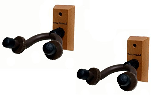Tetra-Teknica Essentials Series EGH-01NW-2P Hardwood Home & Studio Guitar Hanger, 2 Pack
