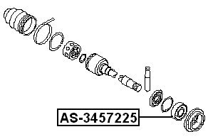 Ball Bearing For Front Drive Shaft 34.5X72X25 Febest 397745Y70E For Nissan