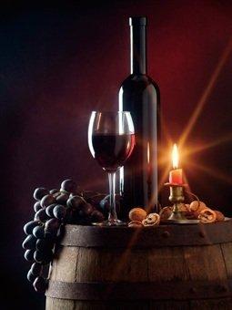 Weinglas Mit Led Kerze 30 X 40 Cm 4 Stück Amazonde Küche Haushalt