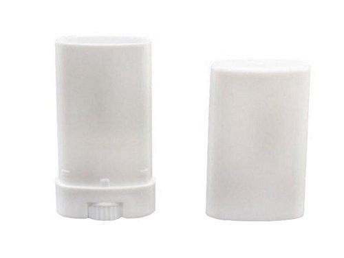 (20PCS White 15ml 0.5oz Empty Refillable Oval Plastic Lip Gloss Balm Tube Container DIY Lipstick Bottle For Deodorant Chapstick CrayonVials Holder Case)