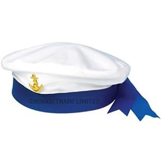 0ff1f496183 8X BULK UK WHOLESALE SAILOR HATs MARINE NAVY SEA MAN CAPTAINS UNISEX ...
