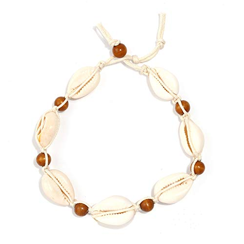 Artilady Anklet Bracelet for Women - Gold Ankles Layered Anklets Charm Boho Anklet Handmade Foot Jewelry (Bead Shell)