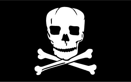 (Flags Poles And More 3'x5' Nylon Jolly Roger Pirate Flag Made in The USA )