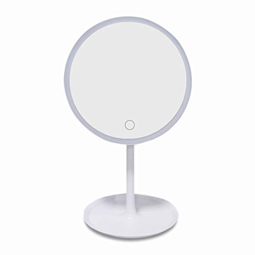 Makeup Mirror with Lights Rechargeable Lighted Vanity Mirror Dimmable LED Cosmetic Mirror -