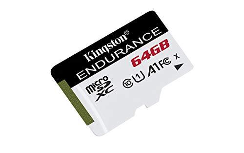 Kingston High Endurance 64GB MicroSD SDXC Flash Memory Card High Performance, 1080P, Full HD, Up to 95MB/S Read, (SDCE/64GB)