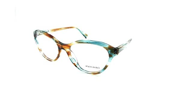 6901cbcfab7 Amazon.com  Alain Mikli Rx Eyeglasses Frames A03076 002 54-18-140 Paint  Turquoise Brown  Clothing