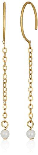 Rebecca Minkoff Baby Threader Gold Hoop (Semi Hoop Wire Earrings)
