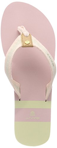Gant St Bart, Chanclas Para Mujer Pink (Dusty Pink/Cream)