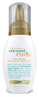 OGX Quenching Coconut Curls Frizz-Defying Moisture Mousse 8