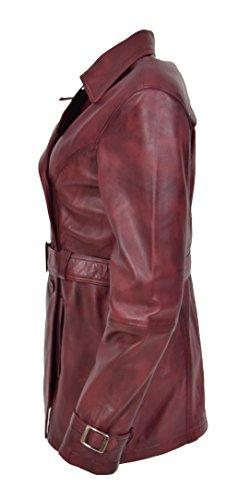 larga Burdeos de Goods Gabardina A1 Rojo Fashion mujer para manga RXBwaUa