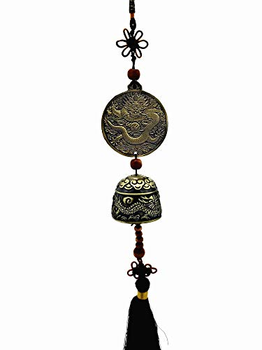 Betterdecor Feng Shui Chinese Dragon Wind Chime for Prosperity (with a Gift Bag)