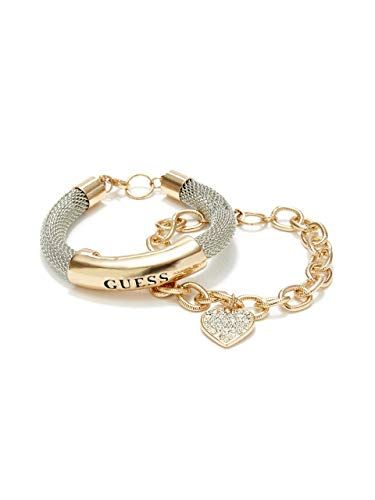 GUESS Factory Women's Gold-Tone Mesh ID Bracelet from GUESS Factory