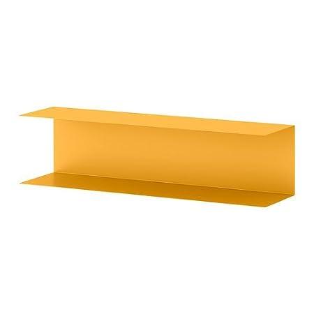 Mensole Porta Cd Ikea.Ikea Botkyrka Mensola Giallo 80 X 20 Cm Amazon It Casa E Cucina