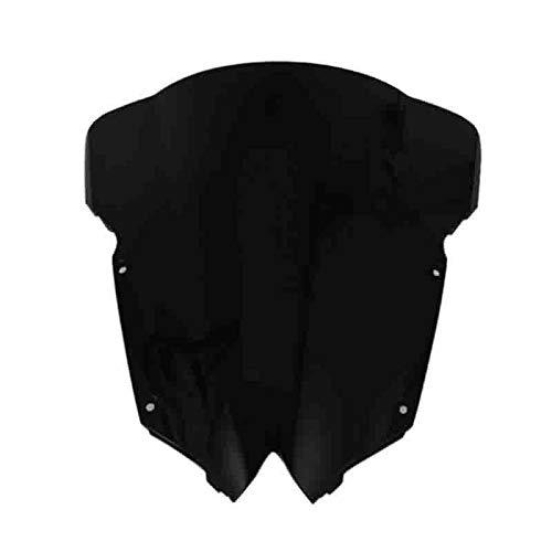 Moligh doll Double Bulle de Pare-Brise de Pare-Brise Noir pour YZF-R6 YZF R6 600 2008-2016