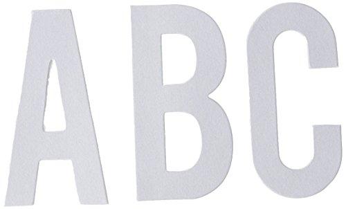 Pink Paislee Yuletide 43 Piece Jumbo Alphabets, White Jumbo Alphabet