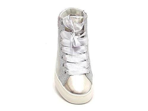 E8102 Donna Laminata 25021 Argento Sneakers Pelle Crime YpxgfTqTw