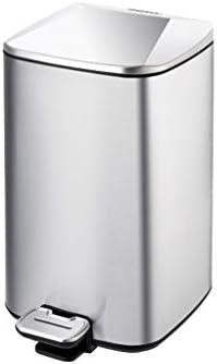 滑らかな表面 キッチンごみ箱、ステンレスノンスリップクリエイティブごみ箱ホームベッドルームコーヒーショップフラワーショップのごみビン リサイクル可能なデザイン (Color : A, Size : 6L)