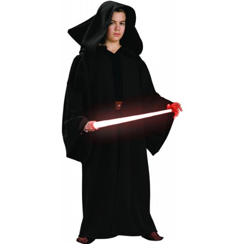 Sith Robe Hooded Costumes (Star Wars Child's Deluxe Hooded Sith Robe, Large)