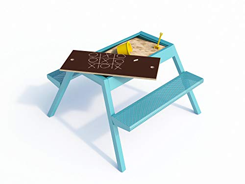 Smelis Kids Multi Purpose Picnic Table, Turquoise by Curonian (Image #5)