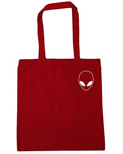 x38cm Shopping Tote HippoWarehouse litres head Beach Classic 10 pocket Gym 42cm Red Bag Alien ICqwqz