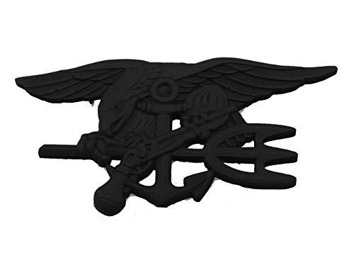 (US Navy Seal Eagle Anchor Trident Metal Badge Insignia -Black)