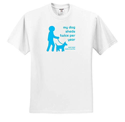 - 3dRose Carrie Merchant Quote - Image of My Dog Sheds Twice Per Year Each Shed Lasts 6 Months - T-Shirts - White Infant Lap-Shoulder Tee (6M) (ts_307125_66)