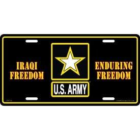 Tags Military U.S Army Iraqi Freedom License Plate
