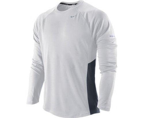 Chemise Nike Pour Uv Homme Longues blanc À Rouge Manches Miler ERRnqrA