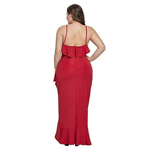 Senza Red Festa Donna Orlo Cocktail Irregolare Zip Forti Petto Lunga Moda Taglie Sexy Abito Discoteca Basso Gonna Kl1TF3Jc
