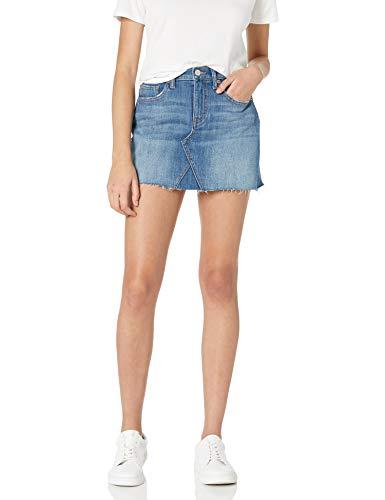 The Drop Women's Rosemore Deconstructed Denim Mini Skirt, Coastline Wash, XS