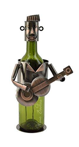 WINE BODIES ZC500 Metal Guitar Rockabilly Bottle Holder Character, Copper