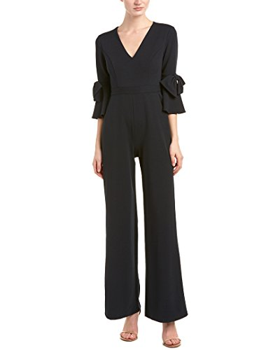 Donna-Morgan-Womens-V-Neck-Jumpsuit-With-Bell-Sleeve-Marine-Navy-8