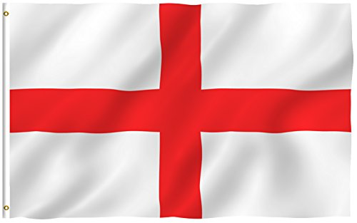 ANLEY [Fly Breeze] 3x5 Foot England Flag - Vivid Color and UV Fade Resistant - Canvas Header and Double Stitched - English National Flags Polyester with Brass Grommets 3 X 5 Ft (George English Flag)