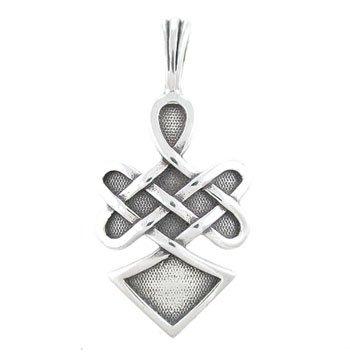 Celtic Warrior Jewellery - Celtic Knot Pendant with WARRIOR SPIRIT Inscription in Sterling Silver for Men or Women, #8207