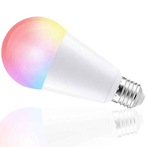 Boaz SmartLife E27 10W,APP and Voice Assistant Controlled Smart Light,RGBW Color Changing Smart Bulbs,Dimmable White Light to Warm Yellow Smart LED Bulb,Works with Alexa and Google Assistant by Boaz Smart Light