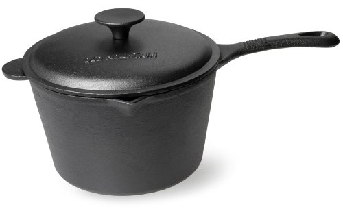 Old Mountain Pre Seasoned 3 Quart Sauce Pan with Lid - Old Mountain Cast Iron