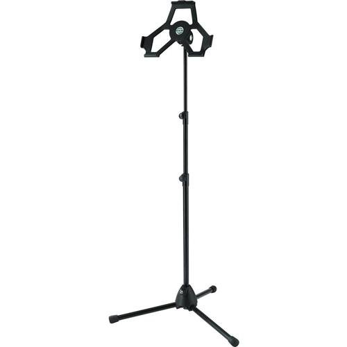 K & M 19772.300.55 iPad 2 Holder with Microphone Stand for iPad 2nd/3rd/4th Gen, Euro 3/8 Thread, 27.6 - 61.0'' Height by K & M