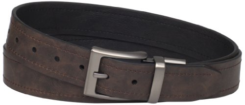 Columbia Reversible Leather Belt - Casual for Mens Jeans with Double Sided - Belt Columbia Reversible