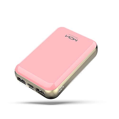 MOXNICE Powerbank 10000mAh Power Bank, USB C externe accu met 2 USB-uitgangen voor iPhone, iPad, Samsung, Huawei en Meer…