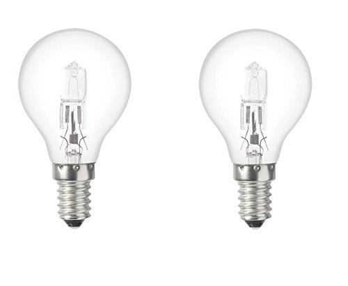 Easylight s9l408460  Halogen Eco Bulb E14  42  W Clear Glass Set of 2