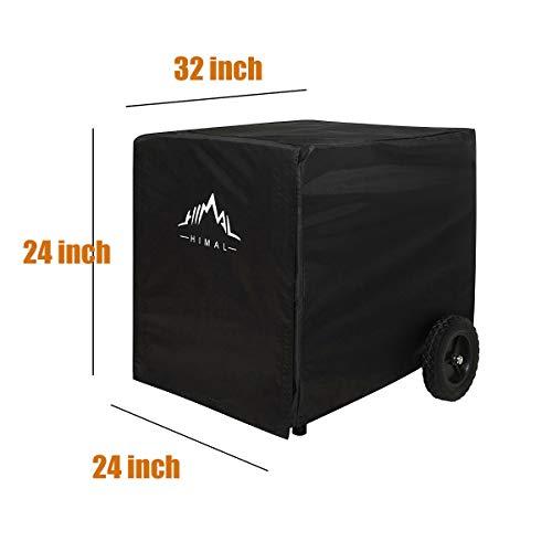 Himal Weather/UV Resistant Generator Cover 32 x 24 x 24 inch,for Universal Portable Generators 5000-10,000 Watt, Black
