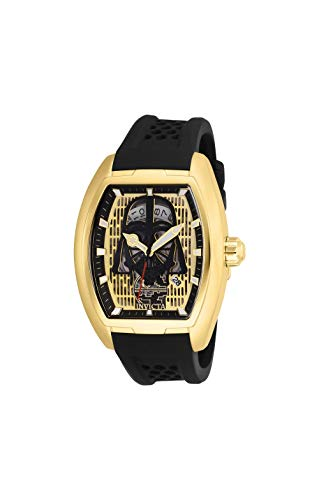 Invicta Men's 'Star Wars' Automatic Stainless Steel and Silicone Fashion Watch, Color:Black (Model: 26941) (Automatic Watch Tonneau)