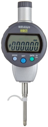 Mitutoyo 543-474BCAL Absolute LCD Digimatic Indicator, with Calibration, ID-C Standard Type, M2.5X0.45 Thread, 8mm Stem Dia., Flat Back, 0-25.4mm Range, 0.01mm Resolution, +/-0.03mm ()