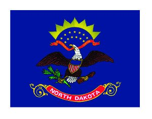 [(3) North Dakota State Flag Funny Hard Hat / Helmet Vinyl Decal Sticker] (Dakota State Flag Decal)
