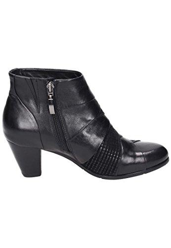 Damen Piazza Donna Stiefelette Stivali Nero z0ww7Pq