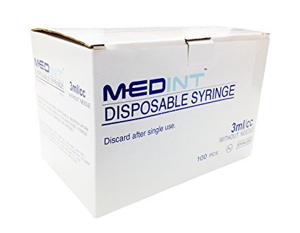 3cc 3ml Syringe Without Needle 100 Syringes Box Medint